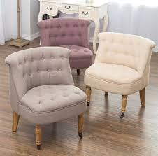 bedroom accent chair armchair occasional button back linen boudoir