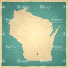Milwaukee Wisconsin Map by Wisconsin Map On Old Paper Vintage Texture Stock Vector Art