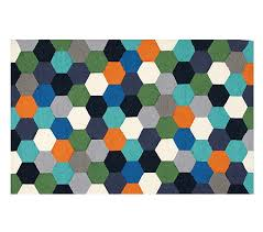 Pottery Barn Rugs Kids Hexagon Rug Pottery Barn Kids
