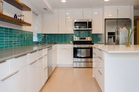interior kitchen images interior soft blue mosaic style subway tile backsplash kitchen