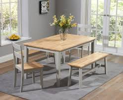 grey kitchen table and chairs buy the chiltern 150cm oak and grey dining table set with benches