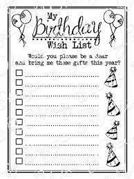 christmas wish list maker best photos of make a birthday wish list birthday wish list