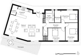 plan de maison de plain pied avec 3 chambres plan maison 90m2 3 chambres plan de maison m chambres with plan