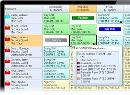 security officer scheduling software snap schedule