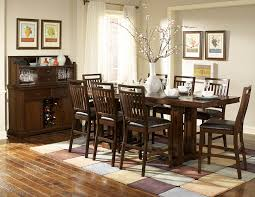 Cherry Wood Dining Room Tables by Everett 5381 36c Classic 9p Cherry Wood Leaf Counter Height Dining Set