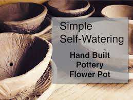 self watering pottery flower pot youtube