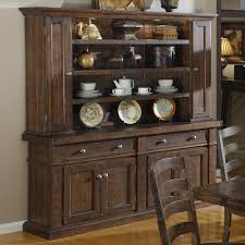 castlegate wood dining buffet with optional hutch in distressed