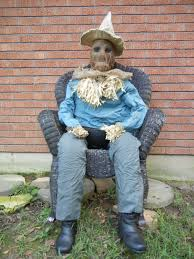 scarecrow halloween prop lifesize animated sitting up attacking scarecrow candy server