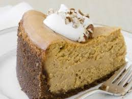 thanksgiving dessert of the day almost pumpkin cheesecake