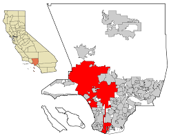 Los Angeles Area Map by File La County Incorporated Areas Los Angeles Highlighted Svg