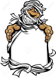 happy halloween free clip art cartoon image of a happy halloween monster mummy holding a sign