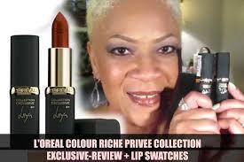 Sho Loreal l oreal colour riche privee collection exclusive lipsticks