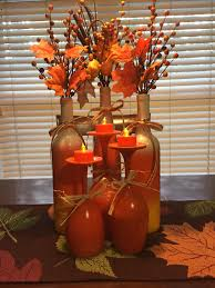 cheap fall décor tree wine glasses painted orange tree