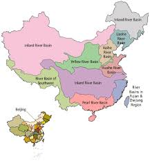 rivers in china map state of water china