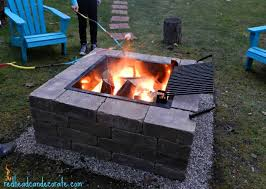 Easy Firepit Easy Diy Pit Kit With Grill Can Decorate Easy Diy