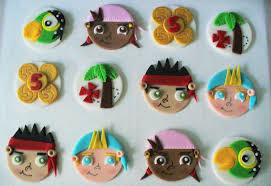 jake and the neverland pirates inspired fondant cupcake