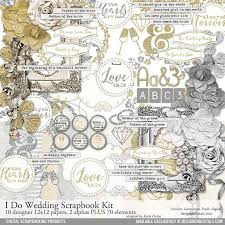 scrapbook for wedding i do wedding scrapbooking kit pertiet kits kt102283