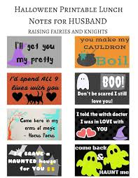 halloween printable lunch notes for husband 2