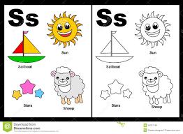 letter s worksheet stock images image 24257744