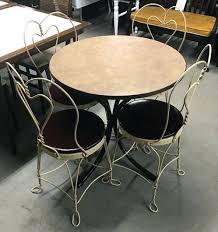 ice cream table and chairs ice cream table and chairs retro ice cream parlor kitchen table set
