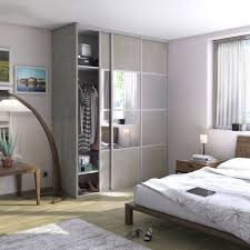 placard chambre adulte chambre adulte gris argent spaceo dressing