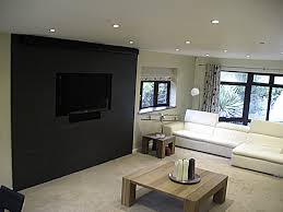 examples clever projection screen installations example perfectly camouflaged projection screen front slate wall