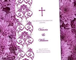 Wedding Program Catholic Catholic Wedding Program Etsy