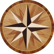 compass wood floor medallions and salig