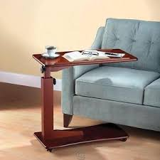 adjustable height side table adjustable height side table food tray magazine book holder bed