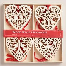 laser cut wood boxed ornaments 12 pack world market
