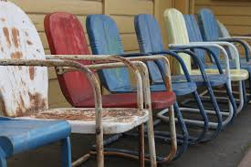 Paint Patio Furniture Metal - old metal lawn chairs chair design and ideas