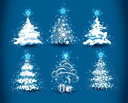 set of christmas trees design elements vector 01 vector
