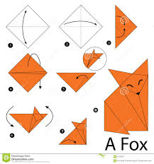 Step By Step Origami For - step by step how to make origami a bird stock vector