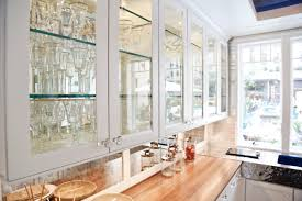 modern style white cabinet doors with glass with kitchen hidden