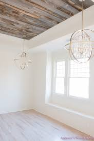 White Wood Ceiling by Alabaster Walls Girls Bedroom Stikwood Weathered Wood Ceiling Shaw