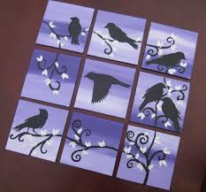 Tree Of Life Home Decor Popular Items For Multiple Canvas On Etsy Purple Black And Silver