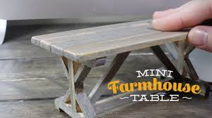 mini woodworking rustic farmhouse table youtube