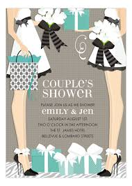 couples wedding shower invitations blue two brides classic wedding shower invitation polka
