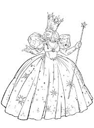 Glinda From The Wizard Of Oz Coloring Page Glinda From The Wizard Wizard Of Oz Coloring Pages