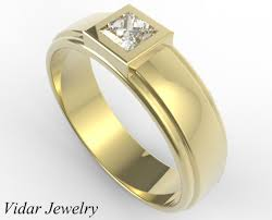 wedding ring designs gold yellow gold princess cut diamond wedding ring vidar jewelry