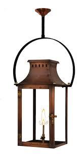 Copper Outdoor Light Fixtures Gas Lanterns Palmetto 24 Electric Lantern