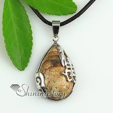 natural quartz necklace images Teardrop jade rose quartz amethyst agate natural semi precious jpg