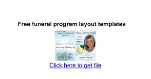 free funeral program layout templates docs