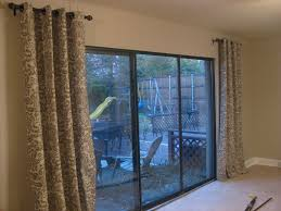 Curtains For Sliding Door Sliding Glass Door Curtain Ideas Shades For Doors Rod
