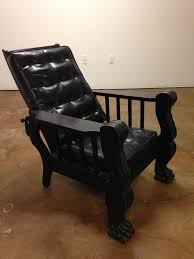 an american classic antique black oak larkin morris recliner