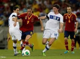 Pertandingan Semifinal Spanyol vs Italia Piala Konfederasi