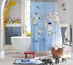 Animal Shower Curtain Animals Of The World Shower Curtain Pottery Barn Kids