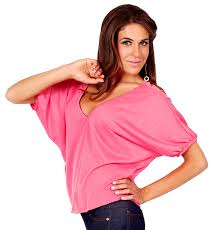 loose fitting v neck cropped 80 u0027s style dolman sleeves blouse