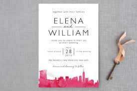 wedding invitations nyc city inspired modern wedding invitations mywedding