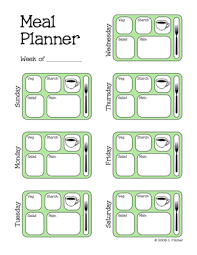 menu planners templates meal planner template pinteres